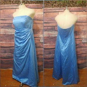 David's bridal formal blue gown/dress